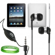 Apple iPad Tablet Compatible, Black, In-Ear Earbud Headphones Earphones with Microphone for iPad ( ALL Models of ipad Tablet 3G , ipad Tablet wifi , ipad Tablet wifi + 3G, 16gb, 32 gb , 64gb ETC.)+ Live, Laugh, Love Silicone Wrist Band!