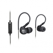 MEElectronics M6P-BK Sports Sound-Isolating In Ear Headphones with Microphone/Remote for iPod, iPhone and Smartphones (Black)