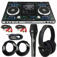 Numark iDJ PRO Premium DJ Controller for iPad-1, iPad-2, and iPad-3 With KRK Headphones, Mic and cables