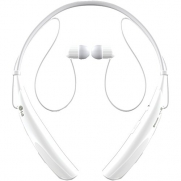 LG Electronics HBS-750 TONE PRO Bluetooth Stereo Headphones with Microphone - White - Retail Packaging