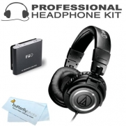 Audio-Technica ATH-M50 Professional Studio Monitor Headphones + BONUS FiiO E6 Headphone Amplifier